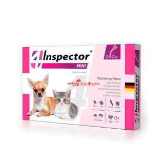 INSPECTOR MINI капли для соб и кош. от 0,5 до 2 кг, 1 пипетка